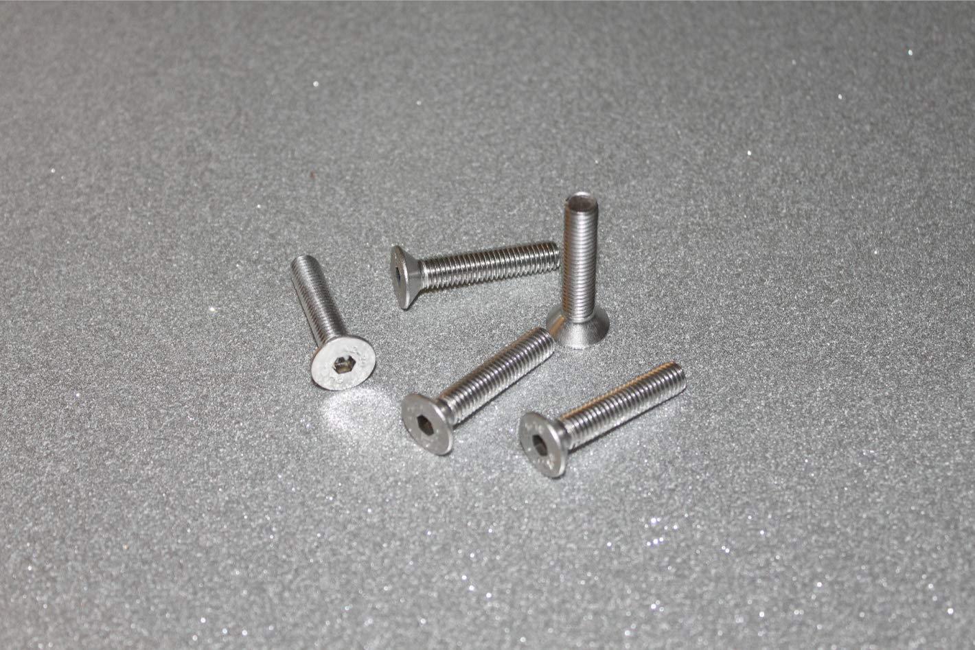 DIN 7991 10, M6x10 mm Innensechskant A2 Edelstahl V2A Senk 10 St/ück Senkkopf Schrauben M6x10 mm Senkkopfschrauben