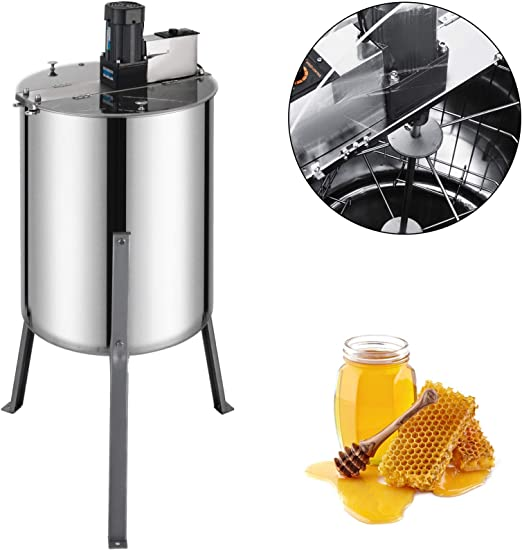 "4 or 8 Frame Manual Bee Honey Extractor 204 Stainless Steel 24/"" Drum Tank"