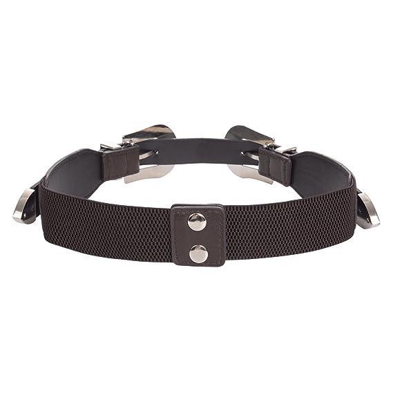 Amazon.com: Mujer Elástico Boho Metal Western cinturón doble ...