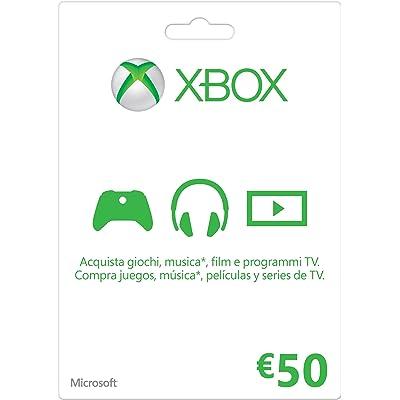 Microsoft - Xbox Live Tarjeta Regalo 50 Euro (Xbox)