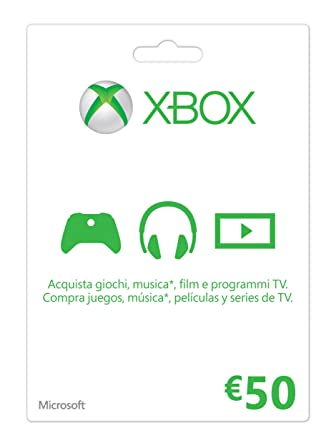 Microsoft - Xbox Live Tarjeta Regalo 50 Euro (Xbox): Amazon ...