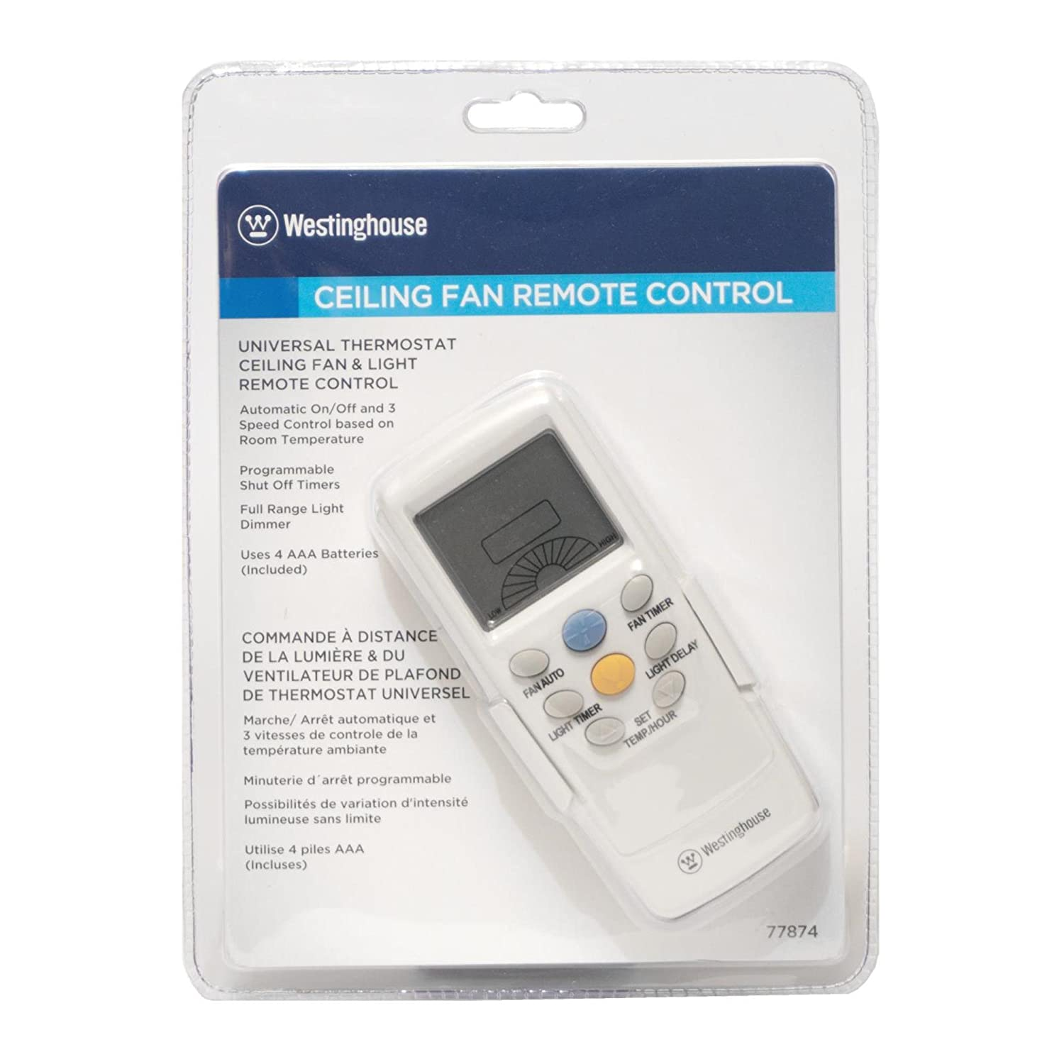 Westinghouse 7787400 Thermostat Ceiling Fan And Light Remote Control For Fans Com