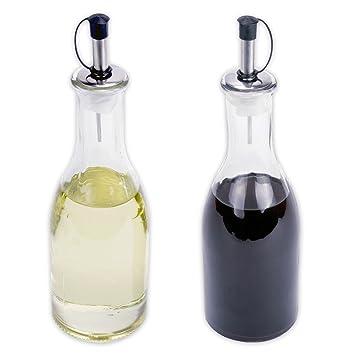 Essig öl Spender essig öl spender flasche aus glas mit ausgießer je 275 ml im 2er