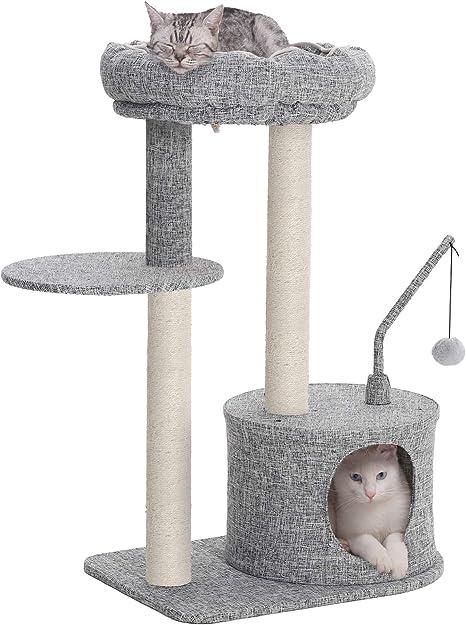 Amazon.com: SONGMICS Árbol de gato con postes de rascador ...