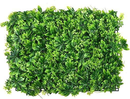 YNGJUEN Flor Artificial Pared Verde Planta Panel jardín Valla ...