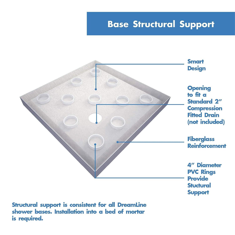Dreamline Shower Base Installation.Dreamline Dlt 1042420 Shower Base 42 W X 42 D White