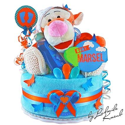Pañales para tartas/PAMPERS Tarta > Baby regalo para joven en un bonito tono de