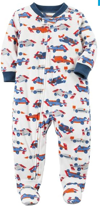Zippered Christmas Sleeper Carter/'s Baby Girls One Piece Fleece Footed Pajama