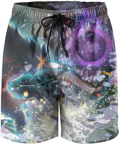 CHENMA Men Naruto 3D Print Fast-Dry Shorts Lounge Swim Trunk Beach Shorts