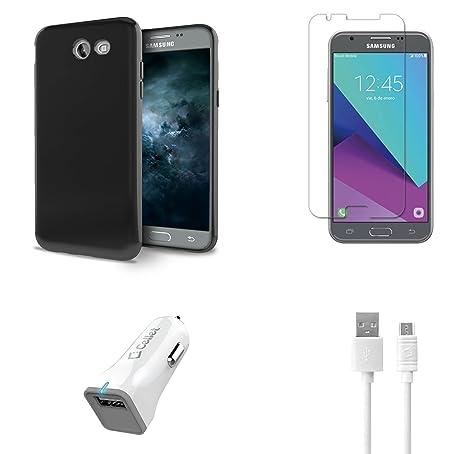 2d8de639f Samsung Galaxy J3 Eclipse - Accessory Bundle with Ultra Slim Fit Soft TPU  Gel Case -