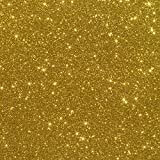 "10""x12"" 5-pack Glitter Iron-on Heat Transfer Vinyl Sheets (Gold)"