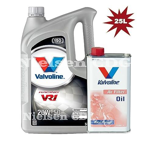 Aceite de motor Valvoline VR1 De carreras 20 W-50 25L + Valvoline – Filtro