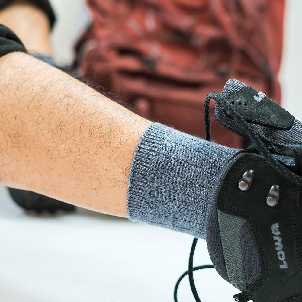 Time Will Tell 3 Pairs Men Women Merino Wool Socks Thermal Lightweight Dress Socks