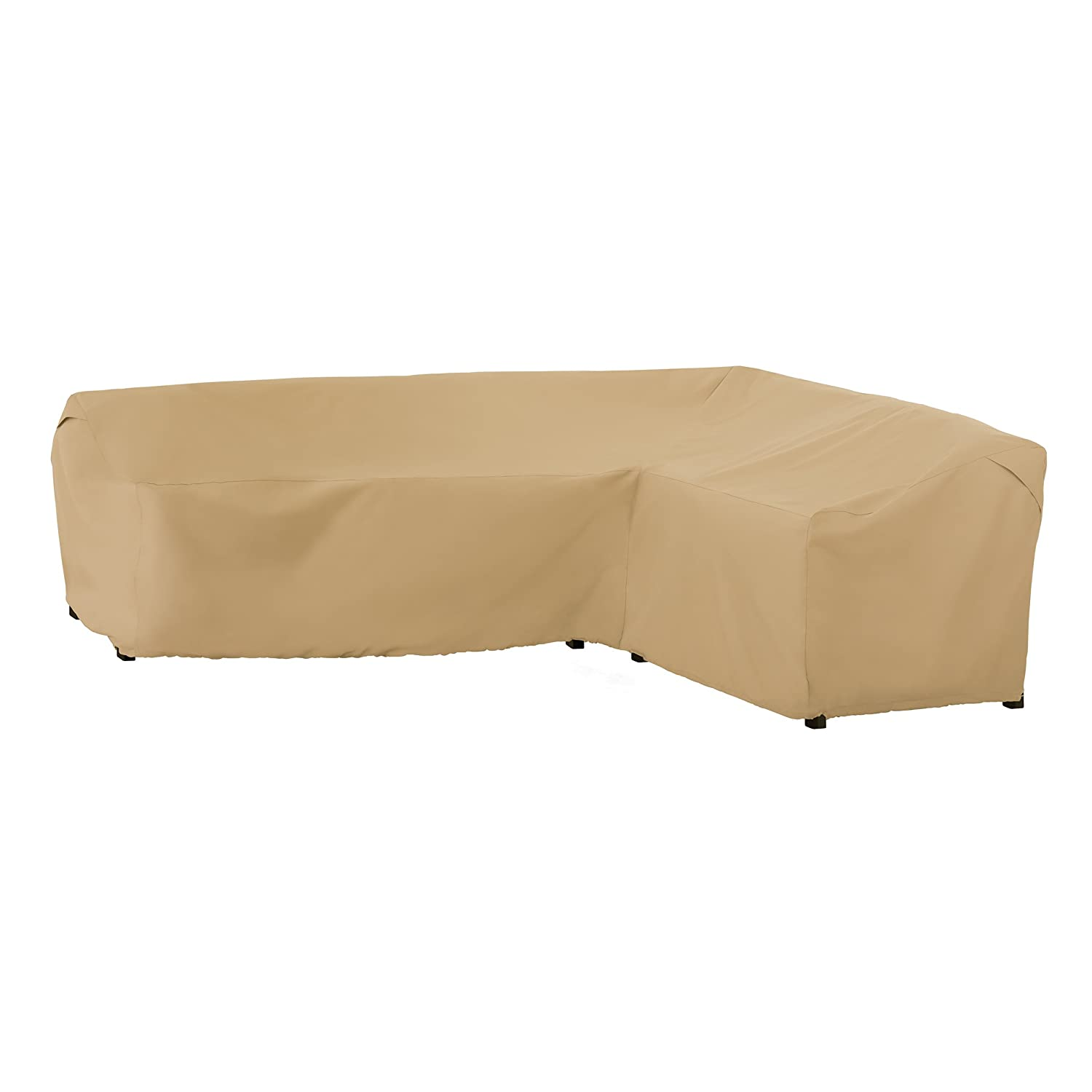 Classic Accessories Terrazzo Patio L-Shaped Sectional Sofa Cover, Right Facing