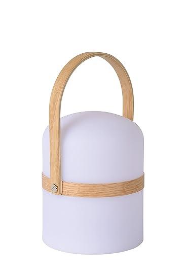 Lámpara de mesa Lucide Joe, diámetro exterior 14,5 cm,1 LED dim 3 W, 2800 K, IP44, textura, integrado, 3 W, blanco, 14,5 x 14,5 x 26,5 cm: Amazon.es: ...