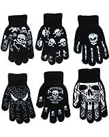 Gilbins Costume Womens Hollween Skeleton Gloves Costume