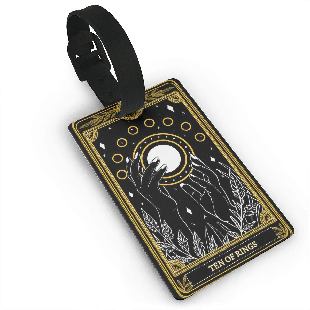 2 Pack Luggage Tags Tarot Cards Ten Of Rings Cruise Luggage Tag For Suitcase Bag Accessories