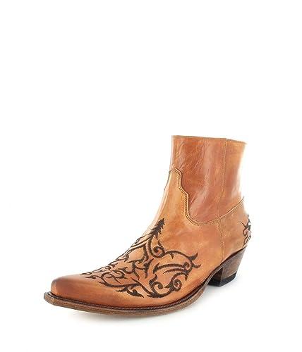 Sendra Boots 7216 Olimpia Siena Lederstiefelette für Damen und Herren Braun, Groesse:44