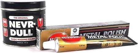 Nevr Dull Polierwatte Für Chrome Alu Messing Und Andere Metalle 142 G Autosol Metal Polish Metallpolitur Chrompolitur 75 Ml Auto