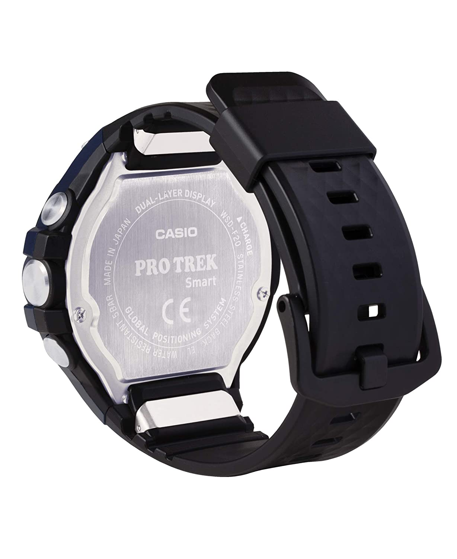Casio Mens viewranger PRO Trek Smart Quartz Sport Watch with Resin Strap, Black, 25.2 (Model: WSD-F20A-BVR