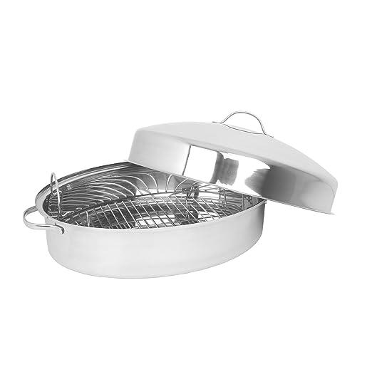 Oneida acero inoxidable fuente para horno con tapa: Amazon.es: Hogar