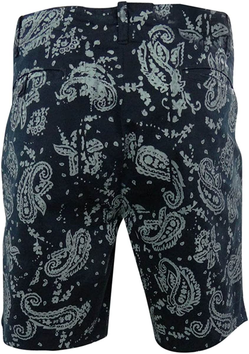 38 Ralph Lauren Mens Bandana Wash Casual Chino Shorts blue
