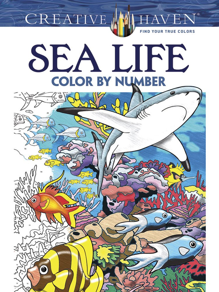 Creative Haven Sea Life Color By Number Coloring Book Adult George Toufexis 0800759797950 Amazon Books