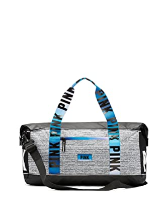 77bc6f7fde1f Victoria s Secret Pink Sport Oversized Duffle Tote Bag Marl Grey Blue  Gradient  Amazon.co.uk  Clothing
