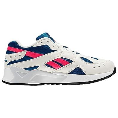 Reebok Aztrek - Women s White Navy Acid Pink Nylon Running Shoes 4.5 B( 4fbc41e0a