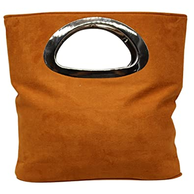 e988d0b3c5 Wocharm Fantastic Best Quality Women s Designer Tote Bag Suede Evening  Large Clutch Bag Handbags (Deep