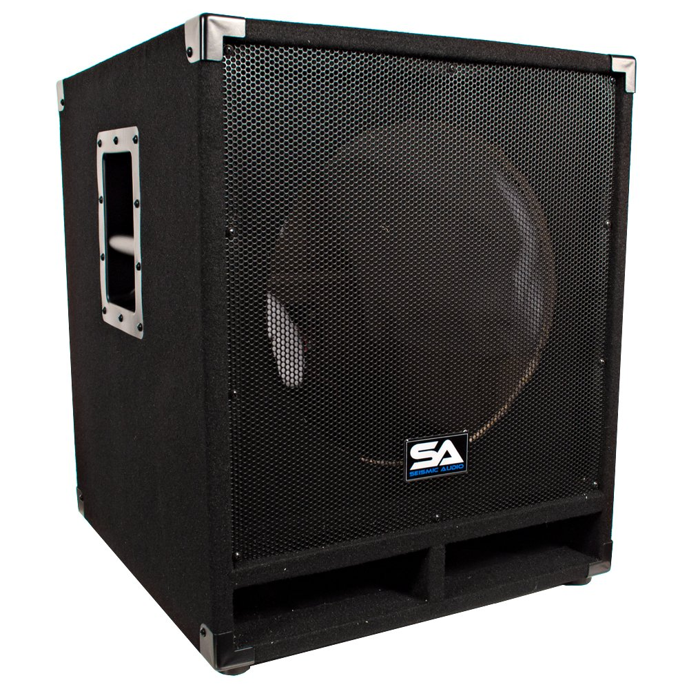 Seismic Audio Baby-Tremor_Empty Empty 15-Inch Subwoofer Cabinet PA/DJ/Band Live Sound Loudspeaker by Seismic Audio