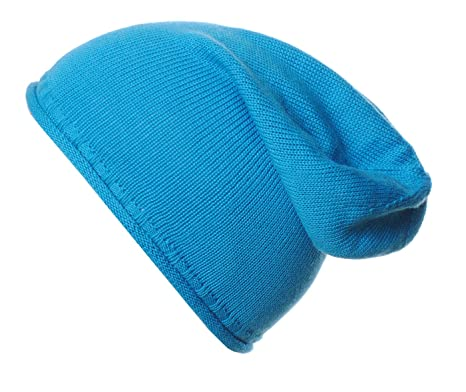 21c828b039c xpaccessories Mens Ladies 100% Fine Merino Wool Slouch Slouchy Beanie Hat  Hats Made in England (Aqua)  Amazon.co.uk  Clothing