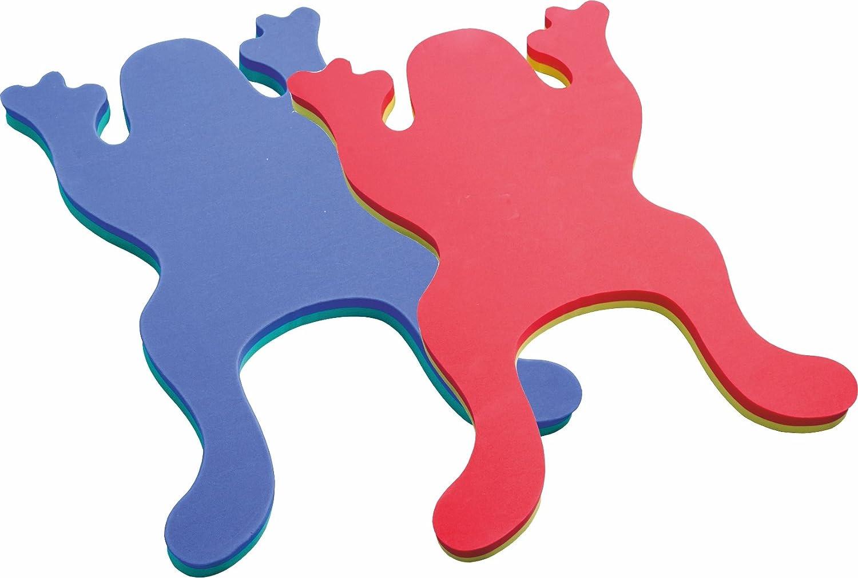 2er SET - SCHWIMMBRETT FROSCH - Auftriebshilfe - 2 farbig: rot / gelb und grün/blau Größe: ca. 75 x 50 x 4 cm