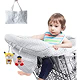 Shopping Cart Covers for Baby Boy Girl, Jhua 2 in 1 High Chair Cover and Baby Shopping Cart Cover, Universal Size…