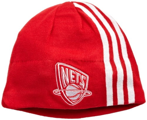 Nets Jersey New Acrylic (NBA Authentic Team Knit Hat - Kf10Z, New Jersey Nets, One Size, Red/white , New Jersey Nets , Red)