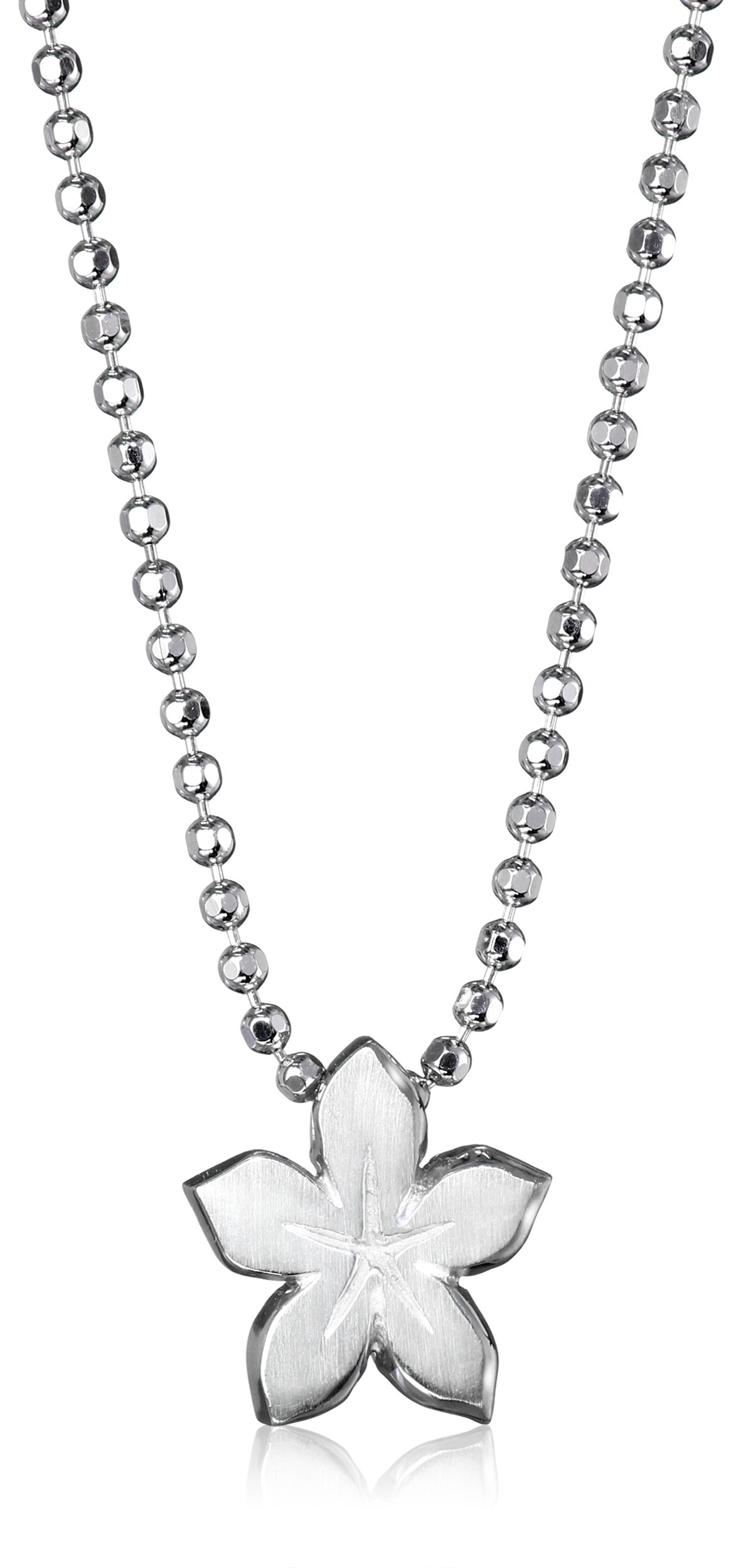 Alex Woo ''Little Signs'' Sterling Silver Lily (Virgo) Pendant Necklace, 16''