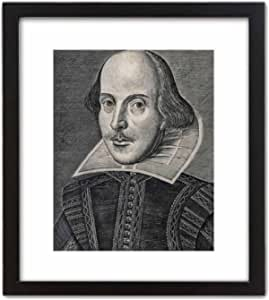 "ArtDash Historic Reprint William Shakespeare Portrait Drawing (8""×10"" w/Black Frame)"