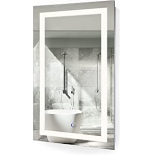 LED Bathroom Mirror 18 Inch X 30 Inch | Lighted Vanity Mirror Includes  Dimmer And Defogger