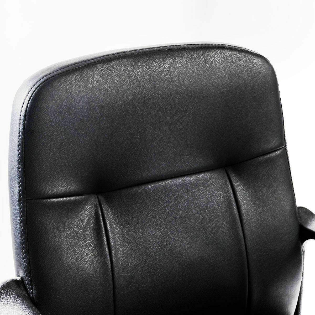 Seleq Compact Black PU Leather Desk Chair for Home Office by Seleq (Image #6)