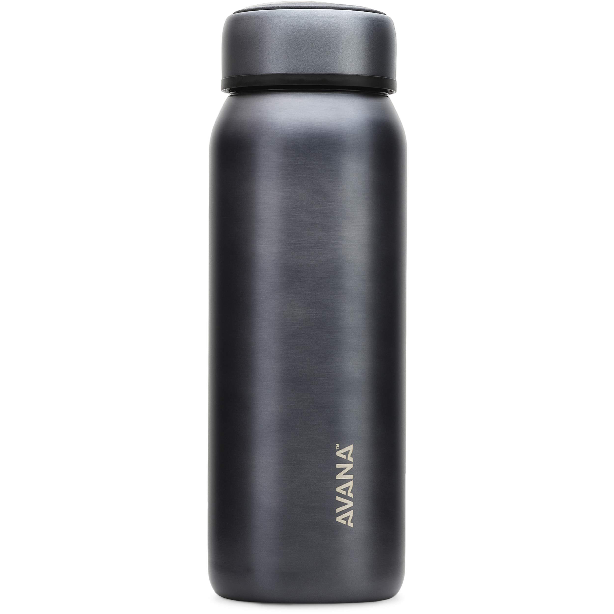 Avana Beckridge Stainless Steel Double-Wall Insulated Water Bottle, 32oz, Gunmetal by Avana