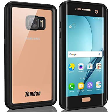 hot sale online d47f1 991f6 Temdan Galaxy S7 Edge Waterproof Case with Floating Strap IP68 Waterproof  Shockproof Protective Clear Case for Galaxy S7 Edge