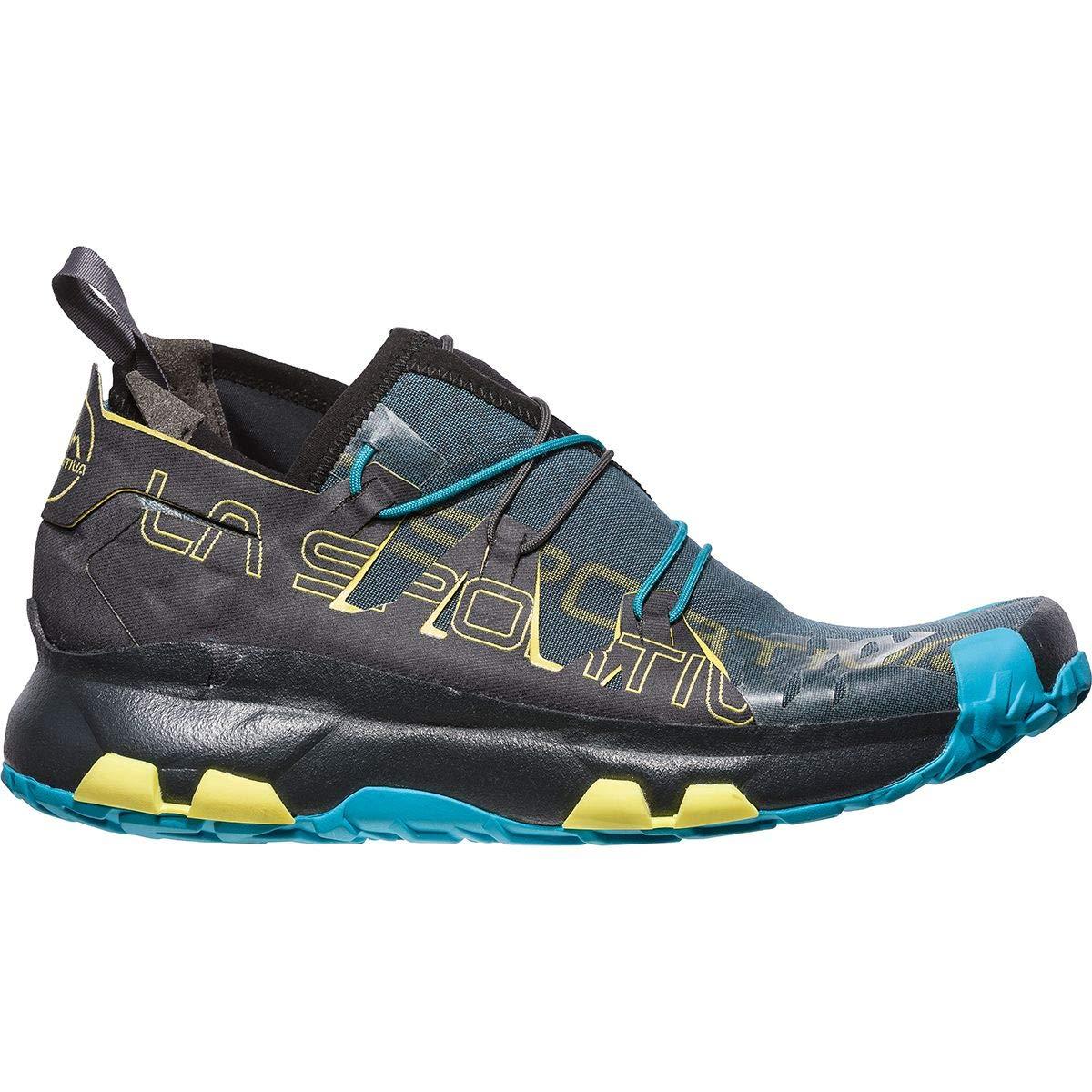 La Sportiva Unika, Hauszapatos de Trail Running para Hombre MultiColor (Carbon   Tropic azul 000)