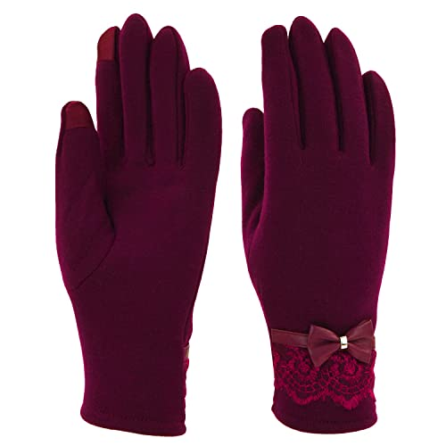 UPhitnis Touch Screen Windstopper Gloves Winter Outdoor Sports Gloves Warm Gloves for Men Women
