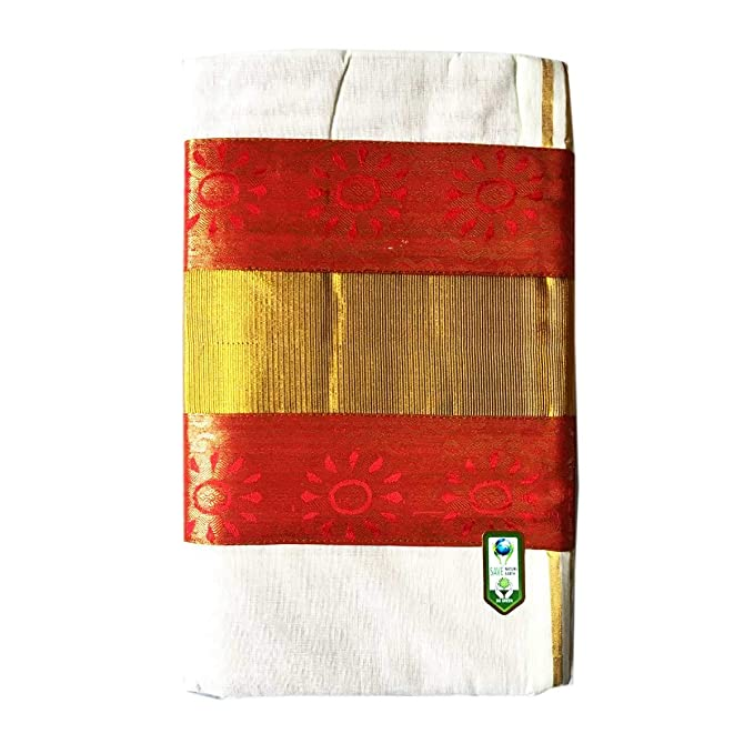 Traditional Kerala Kasavu Saree Colour Design And Golden