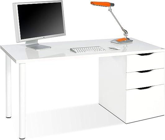 Habitdesign 004604A - Mesa ordenador reversible dos cajones y una ...