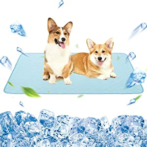 "KOOLTAIL Dog Self Cooling Mat - 48"" X 30"" Pet Summer Cooling Pads Waterproof Bottom Blanket Water Absorption Pad Sleep Bed for Dogs Cats Animal"