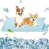 "KOOLTAIL Dog Self Cooling Mat - 48"" X 30"" Pet Summer Cooling Pads Waterproof Bottom Blanket Water Absorption Pad Sleep…"