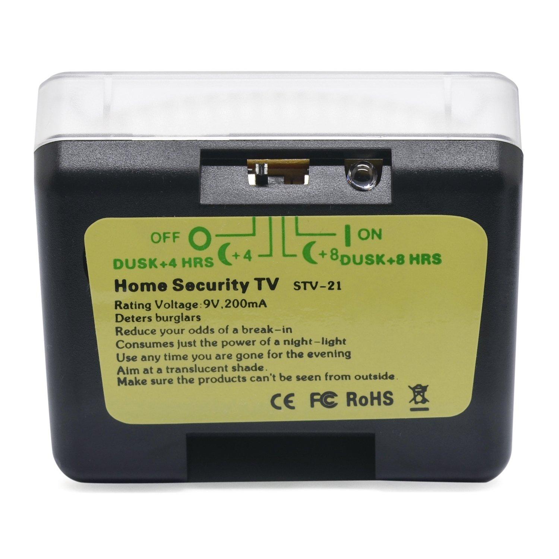 Incutex LED Fake TV-Simulator Fernseh Attrappe Einbruchschutz Home Security mit Lichtsensor und Timer 4//8 Std Laufzeit ab D/ämmerung o Dauerfunktion