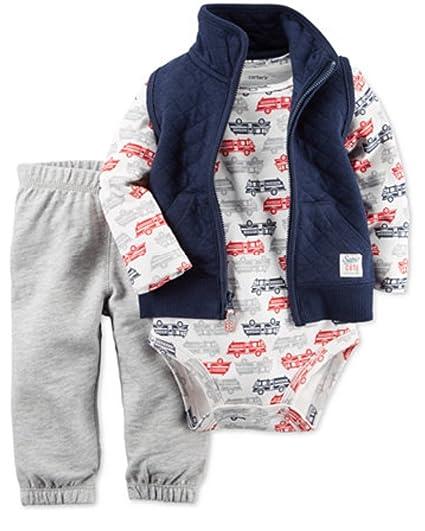 05ded6bbb1e5 Amazon.com  Carters Boy s 3 Piece Set - vest