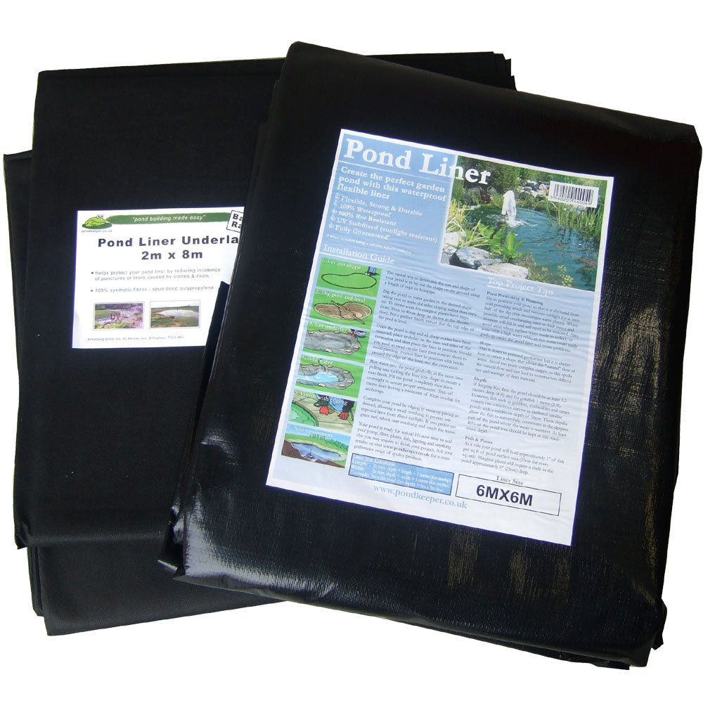 Pond Liner 4x3m with 40yr Guarantee and FREE Underlay Pondkeeper